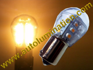 1156 1157 2057 Wagner 17916  P21w P21w 4w Warm White 12 Led Bulb with S8 Globe