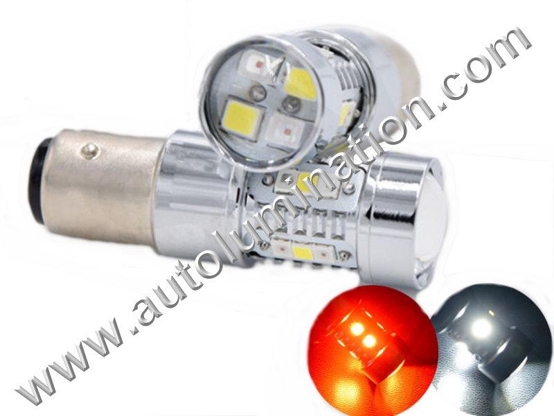 1157  Led Switchback  Optical led Red White Turn Signal Bulbs