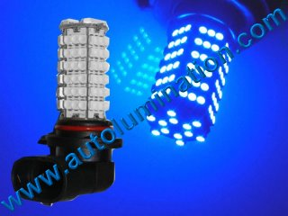 9005 P20d HB3A Right Angle Blue 120 Led Headlight Bulb Running Fog Light