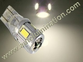 194 168 161 W5W 2825 2886X 7 Watt Warm White Osram Cree Led Side Marker License Plate Bulb