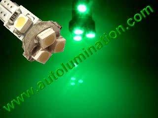 24 T6.5 T6-1.2 T2-1/4 5LED 3528 Bulbs Matrix Green led bulbs