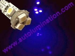 24 T6.5 T6-1.2 T2-1/4 5LED 3528 Bulbs Matrix Purple led bulbs
