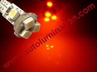 24 T6.5 T6-1.2 T2-1/4 5LED 3528 Bulbs Matrix Red led bulbs