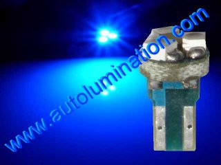24 T6.5 T6-1.2 T2-1/4 3LED 3528 Bulbs Matrix Blue led bulbs