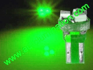 24 T6.5 T6-1.2 T2-1/4 3LED 3528 Bulbs Matrix Green led bulbs