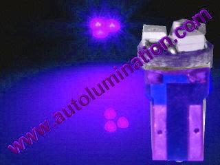 24 T6.5 T6-1.2 T2-1/4 3LED 3528 Bulbs Matrix Purple led bulbs