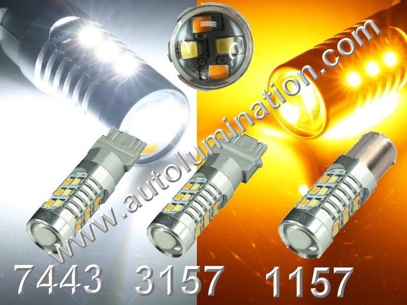 1157 7443 3157  Led Switchback Optical 2835 33 led Turn Signal Bulbs