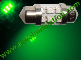 29mm festoon 3022 Led Green