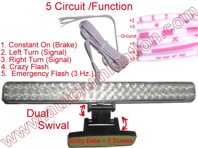 Led Upper 3D Brake Light Assembly