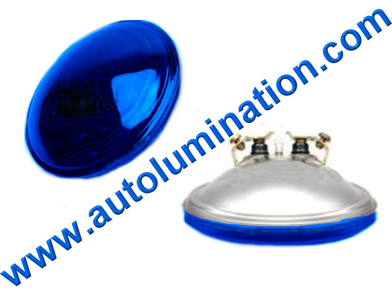 4416b #4416 4416-b Blue 12.8V/30W PAR36 12.8 Volt 30 Watt Sealed Beam, Screw Terminal 4-1/2 Sylvania Wagner