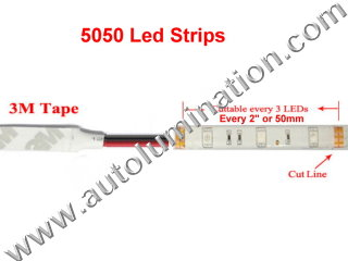 Cut Line for 5050 Strips Aluminum Channel Under Counter Led Light Strips