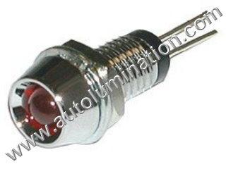 3mm 5mm 10mm Plastic Chrome Mounting Led Threaded Holder Bezel Clip Ring