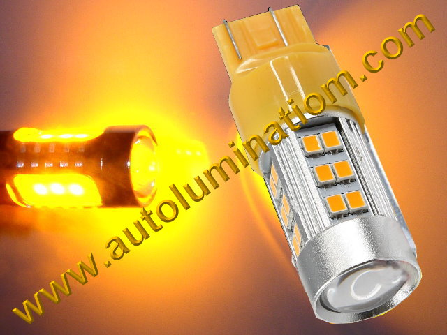 7443 7444 W21 5W 7440 W21W WY21W 7441 2835 CK Optical Amber Led Bulb