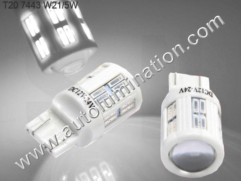 7443 7444 W21 5W 7440 W21W WY21W 7441 Ceramic Canbus Error Free Led Bulb
