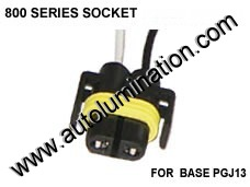 800 Series Right Angle 862 881 886 888 889 894 896 898 899 H27 / W2 Female Socket Pigtail Connector Wire