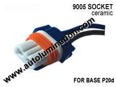 9005XS P20d HB3A Headlight Ceramic Socket Pigtail Connector Harness Wiring