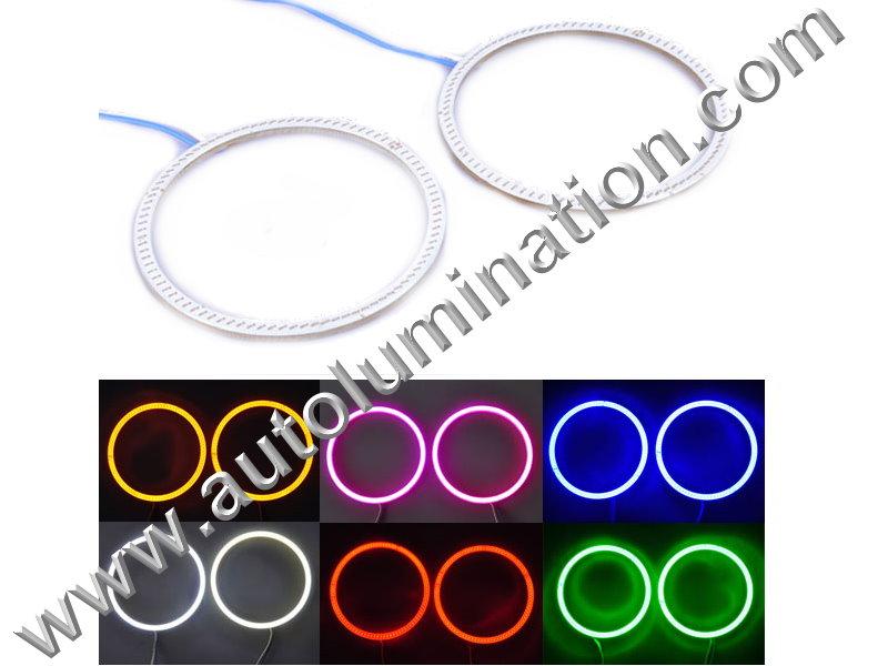 COB LED Angel Eyes Halo Rings light Lamp Car Inverter Ballast Head Lights, Fog Lights, Foglights Tail Lights 60mm 70mm 80mm 90mm 100mm 110mm 120mm 130mm 140mm