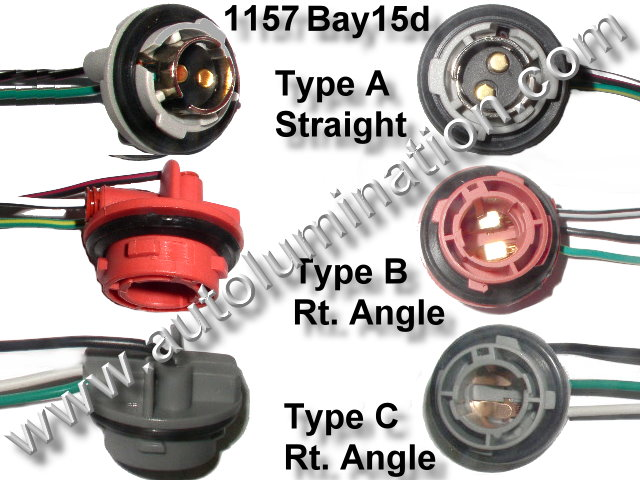 Bay15d 1157 2357 Plastic Twist Lock Pigtail Bulb Socket Connector Wiring