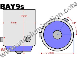 Bay9s H21w 64136 base Bulb