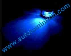 Led Chrome Windshield Washer Leds Nozzle Blue