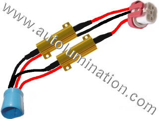 9004 P29t HB1 Ceramic Male to Female  Headlight Socket Pigtail Connector Canbus Warning Cancellor Cancellation Harness