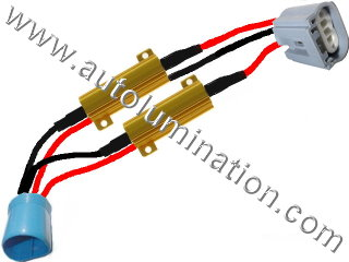 H13 9008 Ceramic Male to Female  Headlight Socket Pigtail Connector Canbus Warning Cancellor Cancellation Harness