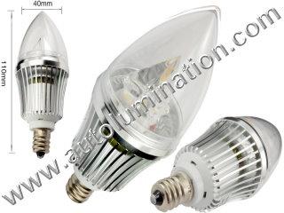 E12 Candelabra Bulb 6 Watt Cree Led 3x2Watt