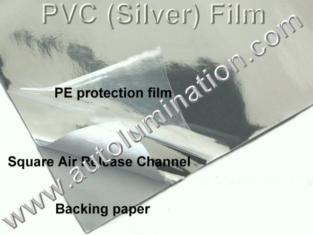 Vinyl 3D 3m OVC Chrome Silver Flexible Film