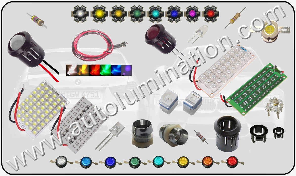 Raw leds, components, circuit boards resistors and supplies