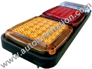 Truck Trailer RV Combination Tail Light Brake Turn Signal Reverse Back Up Light Bracket Mount Led Light Assembly