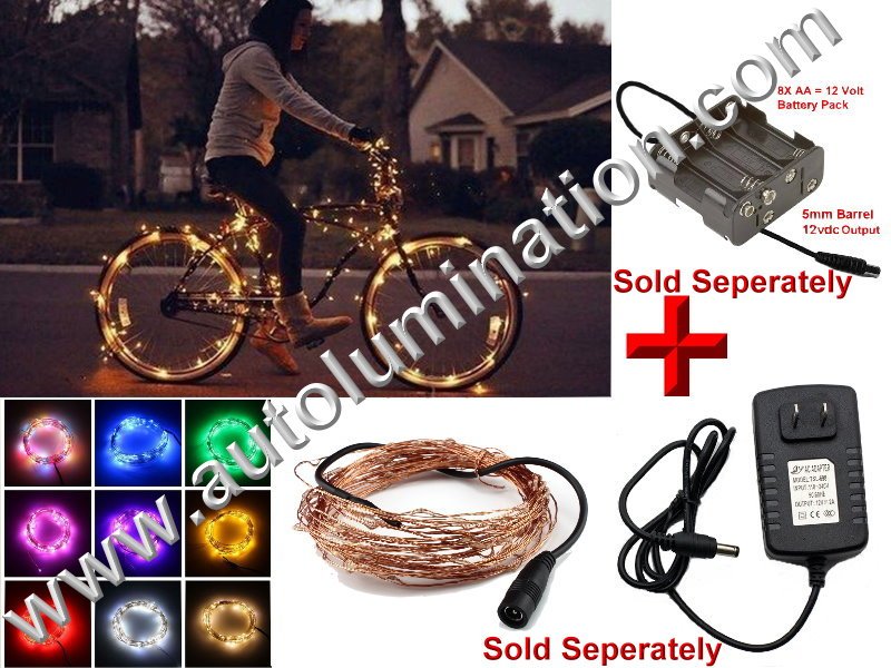 copper wire Led fairy lights  10 Meter 100