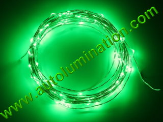 copper wire Led fairy lights  10 Meter 100 Green