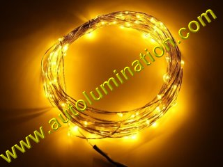 copper wire Led fairy lights  10 Meter 100 Yellow