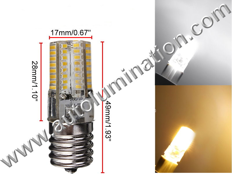E17 LED 3W 64 SMD Appliance Lights Bulb Lamp AC110-120vReplaces Wb36x10003 6912w1z004b