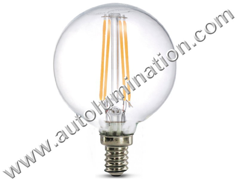 G16.5 Edison Retro Filament Led Base Candelabra Clear Globe Led Bulb E12 Warm White