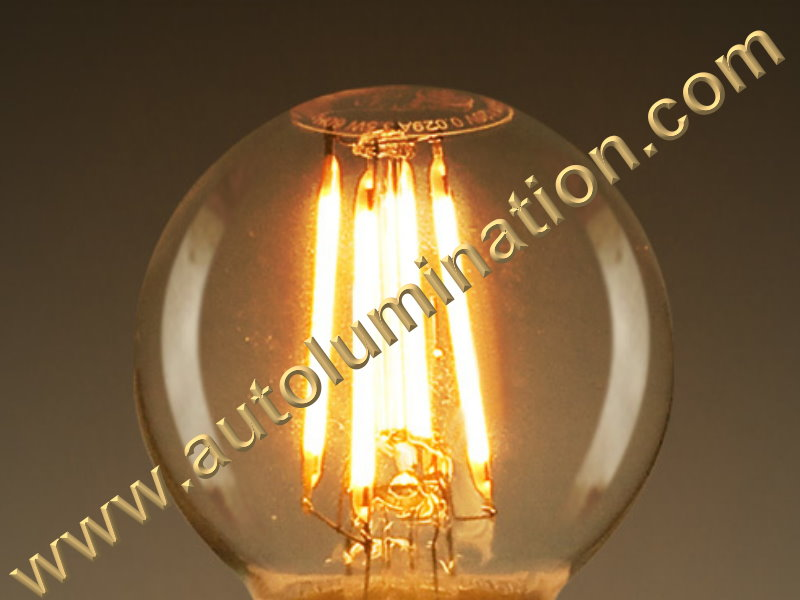 G16.5 Edison Retro Filament Led Base Candelabra Globe Led Bulb E12 Warm White