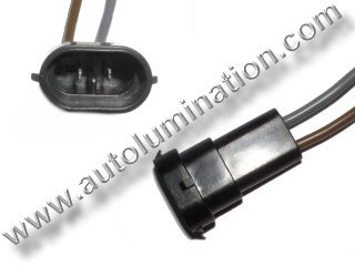 H8 PGJ19-1 Male Socket Pigtail Connector Wire