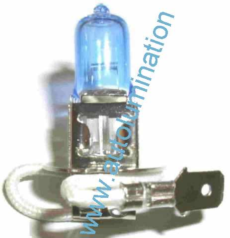 H3 PK22s 6000K Super White Xenon Plasma Headlight Bulb