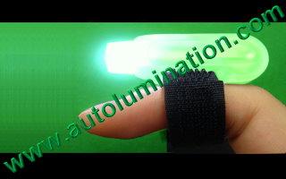 Led Finger Flashlights Green