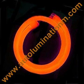 Flexible Neon LED EL Wire Tubing Orange