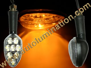 Motorcycle Led Indicator Turn Signal Blinker Running Light Amber Yellow