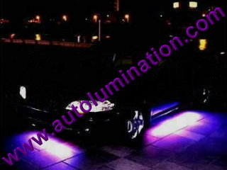 Car with Neon Underbody Light Kit Purple