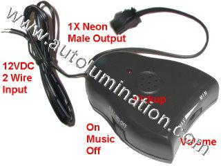 Neon Tubing Music Controller