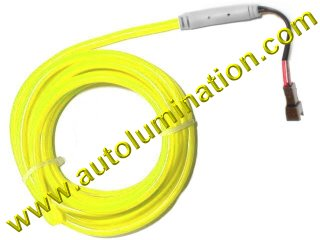 Neon KPT EL Wire Tubing Yellow