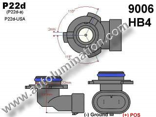 9006 HB4 Headlight Socket Plug Base