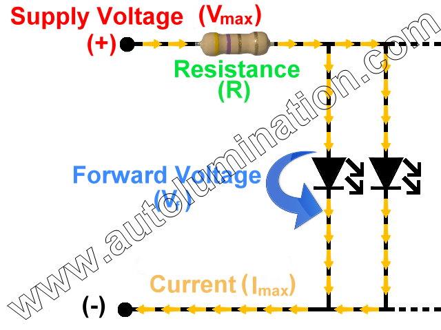 Parallel Led Resistance Resistor Circuit Schematic Calculator