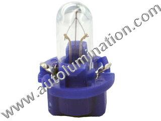 Instrument Panel Light PC119 T2 1/4 Lamp PC Socket Blue