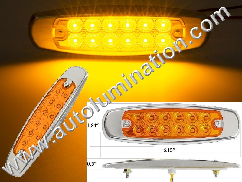 Peterbuilt Freightliner 12 led amber side clearance marker led light