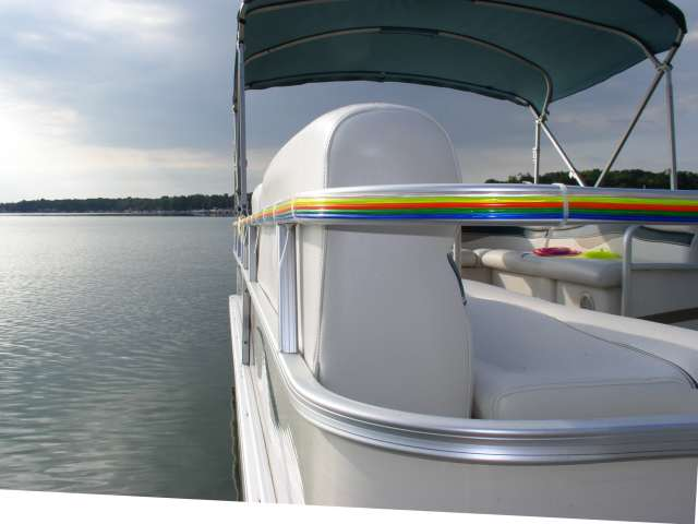 Flexible Neon Tubing Pontoon Boat Project