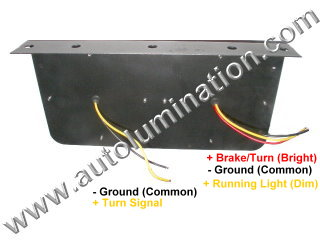 Truck Trailer RV Combination Tail Light Brake Turn Signal Bracket Mount Led Light Assembly
